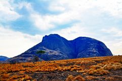 Niassa Province Landscape_Northern Mozambique. Much of Niassa Province in Northern Mozambique is dotted with huge granite hills and mountains called Inselbergs Stock Photography