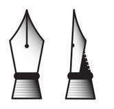 Nib. Monochrome nibs vector illustration