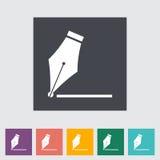 Nib flat icon. Nib. Single flat icon Vector illustration Stock Photos