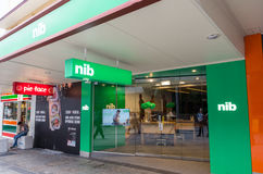 NIB insurance office in central Brisbane, Australia. Brisbane, Australia - July 9, 2017: NIB is Australia`s third largest private health insurance fund. This is stock photography