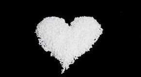 Nib Sugar in the Shape of an Heart Stock Image