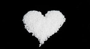 Nib Sugar in the Shape of an Heart Stock Image