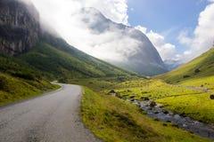 Nibbedalen-valey nahe Geirangerfjord in Norwegen Stockfoto