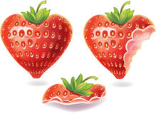 Nibbled strawberry Royalty Free Stock Image