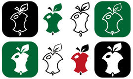 Nibbling apple Stock Images