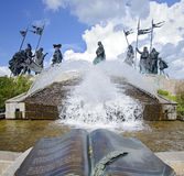 Nibelung monument with trick fountains Royalty Free Stock Images