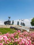 Nibelungendenkmal monument in Tulln, Austria. Nibelungendenkmal monument at the Danube River in Tulln, Austria royalty free stock photography