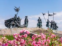 Nibelungendenkmal monument in Tulln, Austria. Nibelungendenkmal monument at the Danube River in Tulln, Austria royalty free stock photo
