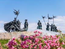 Nibelungendenkmal monument in Tulln, Austria. Nibelungendenkmal monument at the Danube River in Tulln, Austria stock photos
