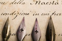 Nibs & Faded paper Stock Images