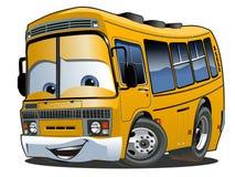 Ônibus escolar dos desenhos animados Imagens de Stock
