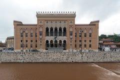 Nica de ‡ de VijeÄ - Hôtel de Ville de Sarajevo photo stock