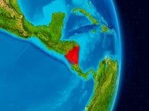 Nicarágua do espaço Imagem de Stock Royalty Free