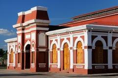 Nicarágua, vista no estação de caminhos-de-ferro velho em Granada Imagem de Stock