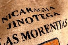 Nicaragua coffee hessian Royalty Free Stock Images