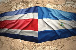 Nicaragua and Costa Rica Royalty Free Stock Photography