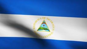 Nicaragua country flag stock footage