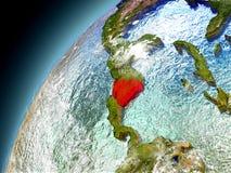 Nicaragua de la órbita de Earth modelo Fotografía de archivo