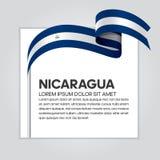 Nicaragua flaggabakgrund royaltyfri illustrationer