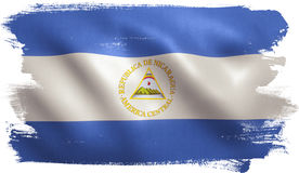 Nicaragua-Flagge Stockbild