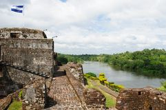 Nicaragua, Fortified castle in El Castillo Stock Photo
