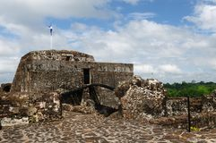 Nicaragua, Fortified castle in El Castillo Royalty Free Stock Images