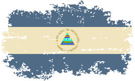 Nicaragua grunge flag. Vector illustration. Royalty Free Stock Photo
