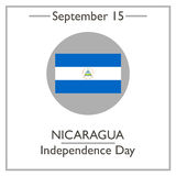 Nicaragua Independence Day, September 15. Vector illustration for you design, card, banner, poster and calendar Royalty Free Stock Image