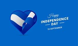 Nicaragua Independence Day. 15 September. Waving flag in heart. Vector. Nicaragua Independence Day. 15 September. Waving flag in heart. Vector illustration Stock Photos
