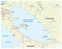 Nicaragua lake map stock illustration