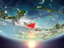 Nicaragua mit Sonne Stockbilder