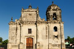 Nicaragua, opinión sobre la ciudad vieja de León Fotografía de archivo libre de regalías