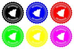 Nicaragua rubber stämpel royaltyfri illustrationer