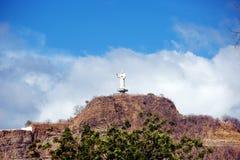 nicaragua San Juan del Sur La statua di Cristo sulla montagna immagine stock libera da diritti