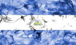 Nicaragua smoke flag isolated on a white background. Nicaragua smoke flag isolated on a white background royalty free stock photo