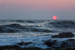 Nicaragua solnedgång royaltyfri bild