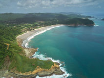 Nicaragua travel destination aerial view. Mukul luxury spa resort Stock Images