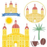 Nicaragua. Vector illustration (EPS 10 Royalty Free Stock Photo