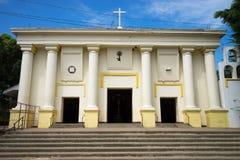 Nicaraguan church entrance. Facade of a Nicaraguan church Royalty Free Stock Photo