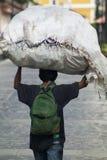 Nicaraguan man with a large burden Stock Photo