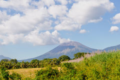 Nicaraguan volcano. A landscape view with a large active Nicaraguan volcano in the distance Stock Image