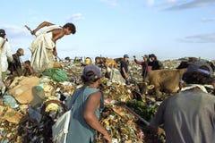 Nicaraguan workers, garbage dump, Managua Royalty Free Stock Image