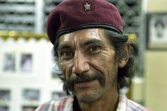 Nicaraguansk man för stående, revolutionär, Sandinista arkivfoto