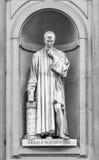 Niccolo Macchiavelli雕象在佛罗伦萨 库存照片