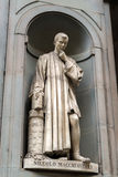 Niccolo Machiavelli statue in the courtyard of the Uffizi Galler Royalty Free Stock Images