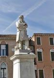 Niccolo Tommaseo statue in Venice, Italy. Royalty Free Stock Photo