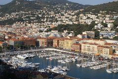 Nice. The Harbor of the Mediterranean ciy of Nice (French Riviera Stock Images