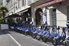 Free Nice, 4th September: Sharing Bicycles Parking In Nice City From Provence Royalty Free Stock Image - 174827846
