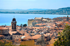 Nice. A panoramic view of hitorical city centre of Nice in the French Riviera stock image