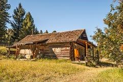 Nice Abandoned Log Home Stock Photo
